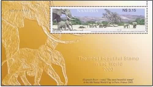 3dmore 納米比亞Hoarusib 2003最美的郵票